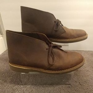 Men's Clarks Brown Leather Ankle Boots